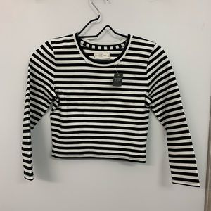 Abercrombie and Fitch Cropped Striped Shirt